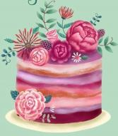 B-DAY! Custom Designer's Choice  in Carmel, Indiana | Raw Flower Design
