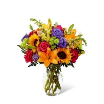 B07P Best Day Bouquet Vase Arrangement