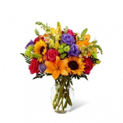 B07P Best Day Bouquet Vase Arrangement