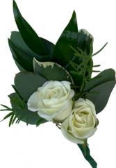 B10-15 Miniature Rose Boutonniere
