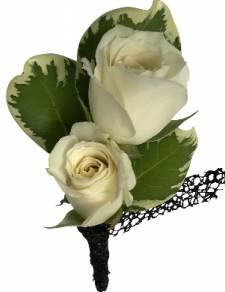 B22-16 Miniature Rose Boutonniere