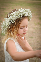 Babies Breath Flower Girl Crown