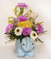Baby Animal with Flowers Arrangement