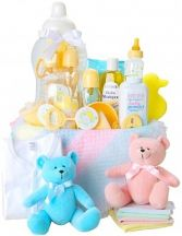 BABY BASICS FOR BOY OR GIRL GIFT BASKET