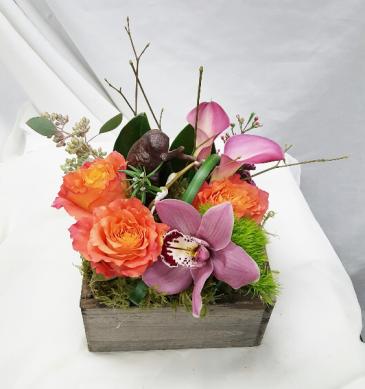 Baby Bird in a Box Fresh Floral Design