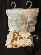 Baby Blankets With Sateen Trim