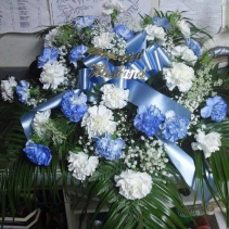 baby blue tribute  casket cover