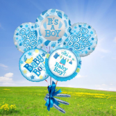Baby Boy Balloon bouquet-chocolate cigars