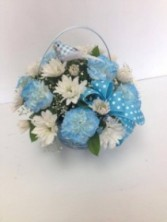 Baby Boy Basket All around arrangement
