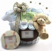 Classic Baby Boy Basket Gift Basket