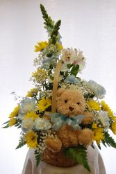 Baby Boy Basket New Baby Flowers