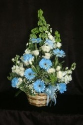 Baby Boy Basket One Sided - Large Arrangement