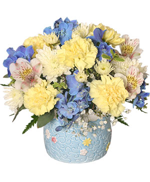 BABY BOY BLOOMS Floral Arrangement in Lake Worth, FL | AST FLOWERS INC DBA A FLOWER PATCH