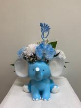 Baby Boy Blue Elephant