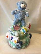 Baby Boy Diaper Cake Gift basket