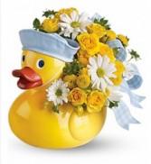Baby Boy Ducky Arrangement Baby