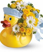 Baby Boy Ducky  Ducky Keepsake container