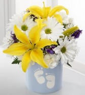 Baby Boy Foot Floral Arrangement