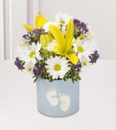 Baby Boy Footprints Bouquet