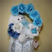 Baby Boy Maternity Door / Nursery Wreath Wreath