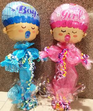 Baby Boy or Baby Girl Balloon Person/Candy Base Baby in Wichita, KS | Via Christi Flower & Gift Shop