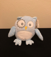 Baby Boy Owl Stuffed Plush with Rattle