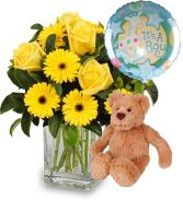 BABY BOY PACKAGE FLOWER  BOUQUET