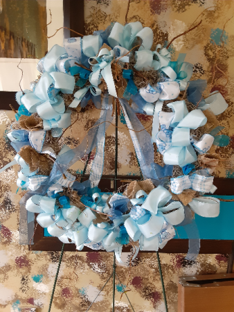 baby boy ribbon wreath baby boy wreath