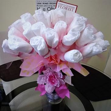 Baby Girl Shower Diaper Bouquet Baby Gift