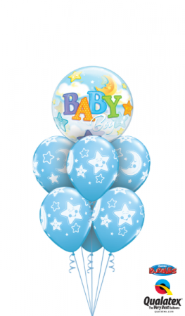 Baby Boy Stars & Moon Balloons