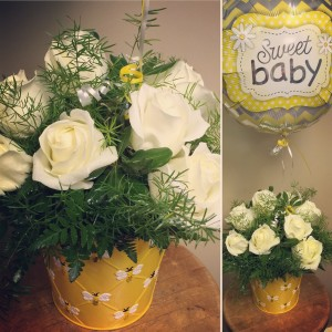 Baby Bumble Bee Vased Arrangement in Auburn, AL | AUBURN FLOWERS & GIFTS
