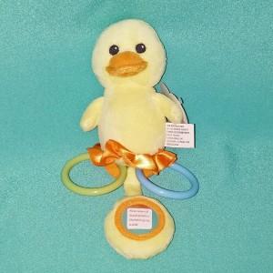 Baby Duck Rattle Plush