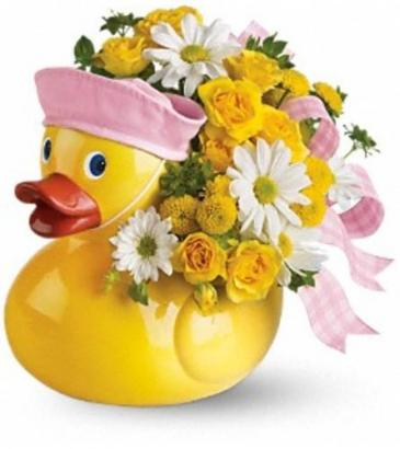 Just Ducky Baby Girl Bouquet