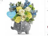 Baby Elephant Fresh flowers in keepsake elephant