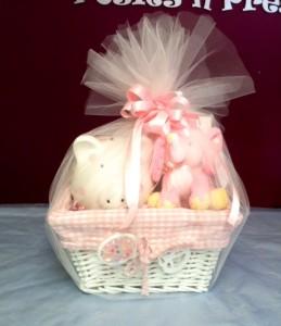 Baby girl basket gift basket in sutton ma posies n presents baby girl basket gift basket negle Gallery