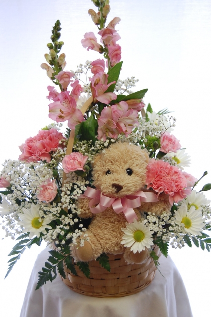 Baby Girl Basket New Baby Flowers