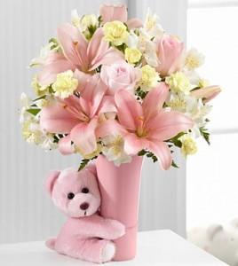 Baby Girl Big Hug  in Henderson, NV | T G I FLOWERS