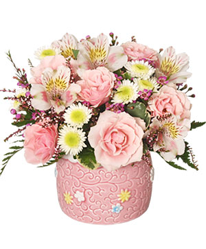 BABY GIRL BLOOMS Floral Arrangement in Fitchburg, MA | CAULEY'S FLORIST & GARDEN CENTER