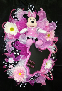 Minnie Mouse Baby Door Bow