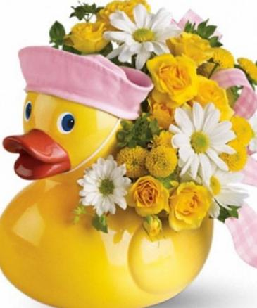 Baby Girl Ducky  Ducky keepsake container