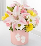Baby Girl Foot Floral Arrangement
