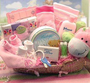 Baby girl gift basket in powder springs ga peartree home baby girl gift basket negle Gallery