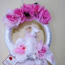Baby Girl Maternity Door / Nursery Wreath CUSTOM