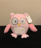 Baby Girl Owl Stuffed Plush with Rattle