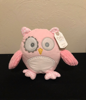 Baby Girl Owl Stuffed Plush with Rattle in Boise, ID | HEAVENESSENCE FLORAL & GIFTS