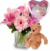 BABY GIRL PACKAGE FLOWER  BOUQUET