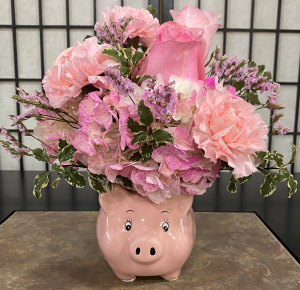 Baby Girl Piggy bank  in Indianapolis, IN | SHADELAND FLOWER SHOP