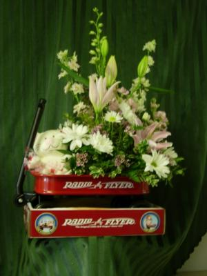 Baby Girl Radio Flyer Baby in Duvall, WA | FLOWERS BY SCHATZI (DUVALL FLOWERS & GIFTS)