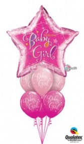 Star baby Girl balloons