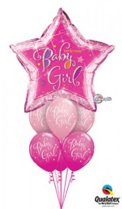 Star baby Girl balloons